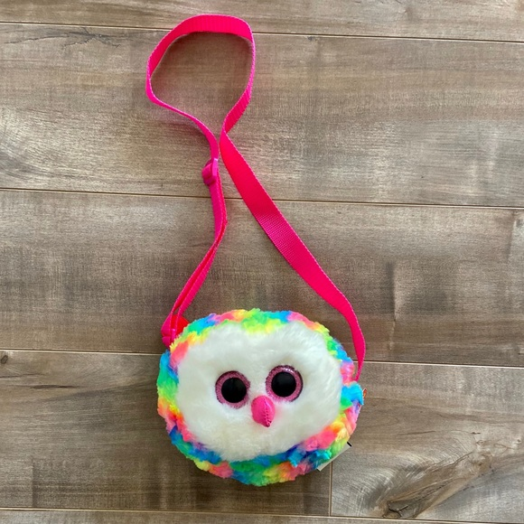 TY Gear Purse Owen the Owl 8 inch New with Tags